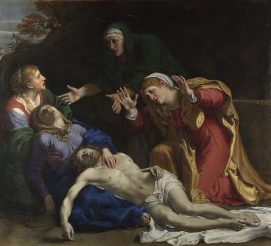 ' The Dead Christ Mourned - the Three Maries'